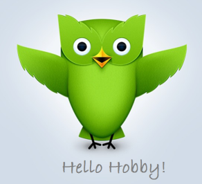 Hello Hobby GREEN OWL - with writing