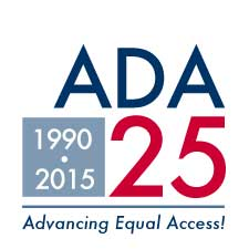 July 24.  ADA 25th logo