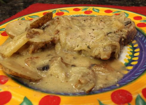 One Pot Skillet Pork and Potato Comfort