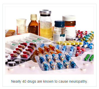 Nearly 40 drugs are known to cause neuropathy